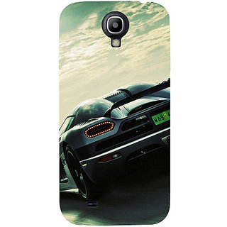 Casotec Sports Racing Design Hard Back Case Cover for Samsung Galaxy S4 i9500