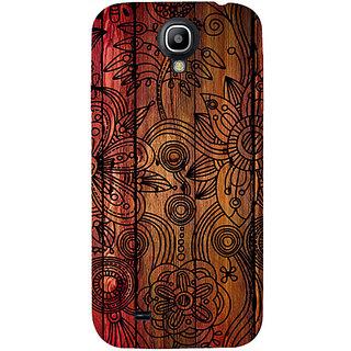 Casotec Dark Wooden Background Design Hard Back Case Cover for Samsung Galaxy S4 i9500