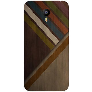 Casotec Wood Colorfull Pattern Design Hard Back Case Cover for Meizu M2 Note