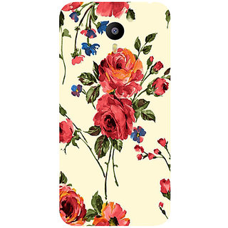 Casotec Vintage Painting Flower Design Hard Back Case Cover for Meizu M2 Note