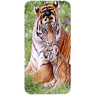 Casotec Tiger Design Hard Back Case Cover for Meizu M2 Note