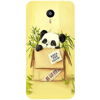 Casotec Panda In Box Design Hard Back Case Cover for Meizu M2 Note