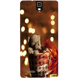 Casotec Teddy In Cup Design Hard Back Case Cover for Infocus M330