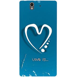 Casotec Love Design Hard Back Case Cover for Sony Xperia Z