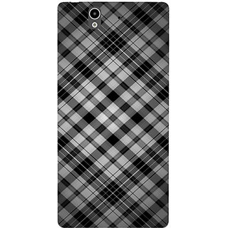 Casotec Black Stripes Pattern Design Hard Back Case Cover for Sony Xperia Z