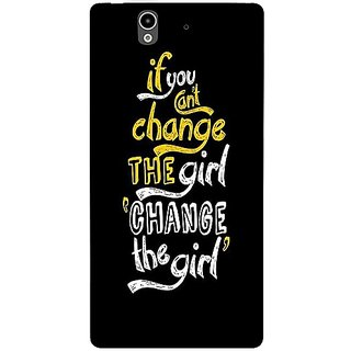 Casotec Changing Girl Design Hard Back Case Cover for Sony Xperia Z