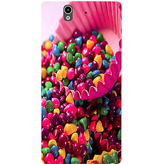 Casotec Colorful Candy Design Hard Back Case Cover for Sony Xperia Z