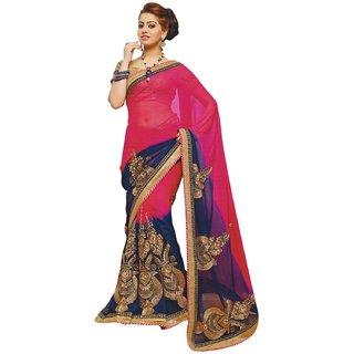 Anushree Sarees Womens Georgette And Chiffon Saree