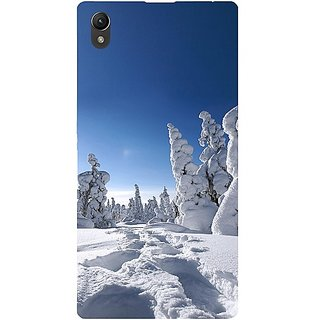 Casotec Winter In Finnland Design Hard Back Case Cover for Sony Xperia Z1 L39H