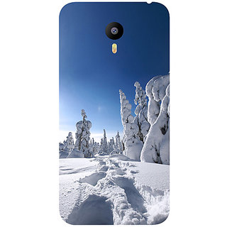Casotec Winter In Finnland Design Hard Back Case Cover for Meizu M2 Note