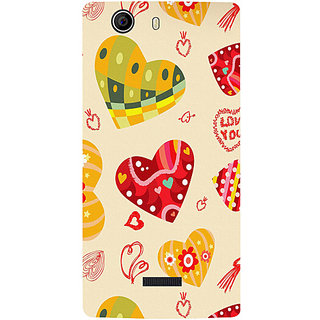 Casotec Hearts Design Hard Back Case Cover for Micromax Canvas Nitro 2 E311