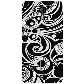 Casotec Black White Pattern Design Hard Back Case Cover for Micromax Canvas Nitro 4G E455