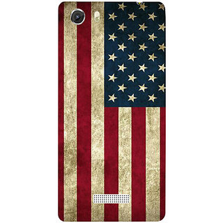 Casotec Vingate USA Flag Design Hard Back Case Cover for Micromax Canvas Unite 3 Q372