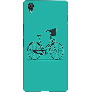 Casotec Lets Cycle Pattern Design Hard Back Case Cover for Oneplus X