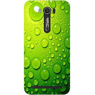Casotec Green Bubbles Design Hard Back Case Cover for Asus Zenfone 2 laser ZE500KL