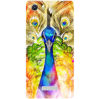 Casotec Colorful Joy Pattern Design Hard Back Case Cover for Micromax Canvas Unite 3 Q372