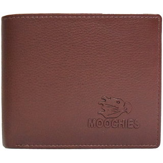 Moochies Tan Mens pure leather wallet emzmocgw62tan