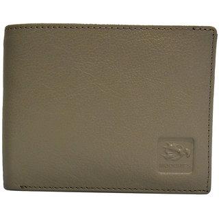 Moochies Beige Mens pure leather wallet emzmocgwN301beige