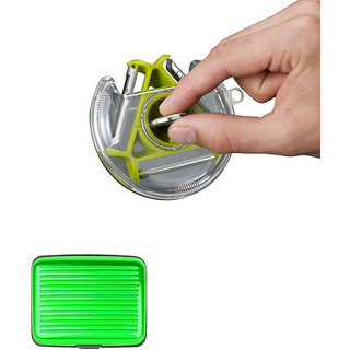 Compact 3 Bladed Heavy Quality Rotary Vegetable Fruit Peeler With Free Green Aluma Wallet