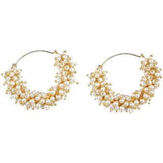 YouBella Pearl Earrings Jewellery For Girls And Women