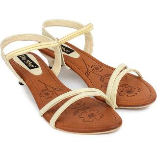 Do Bhai Womens Cream Heels