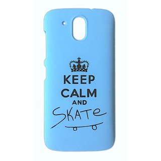 YGS Printed Matte Back Cover Case For HTC Desire 526 -Blue