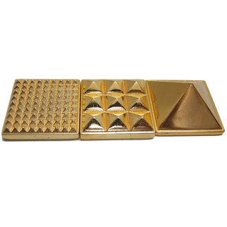 Astro Guide Multi layer Vastu Pyramid - Golden metal