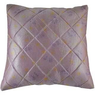 Royal  Purple-Quilted Cushion Cover 1Pc Td-1691