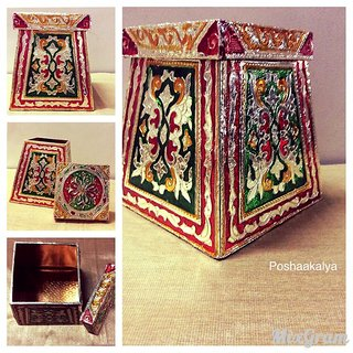 Ethnic Jaipuri Meenakari gift box/storage box/jewelery box
