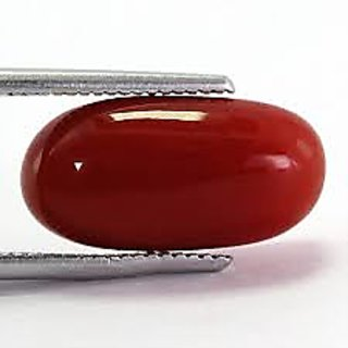 6.25ratti red coral (MOONGA) gemstone LAB certificate