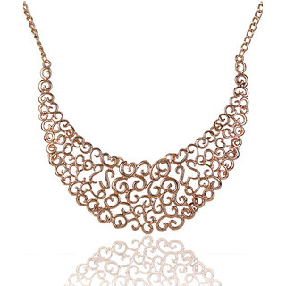 Shining Diva Non Plated Gold Necklace Set For Women-CFJ2414np