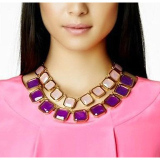 Shining Diva Non Plated Multi Necklace Set For Women-CFJ3216np