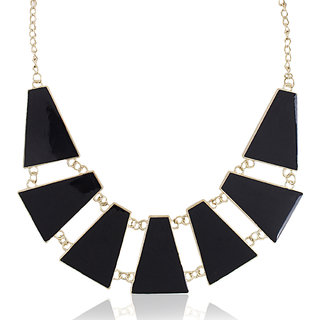 Shining Diva Non Plated Black Necklace Set For Women-CFJ4617np