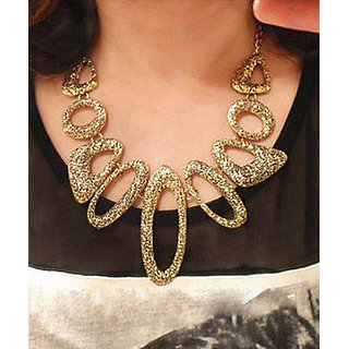 Shining Diva Non Plated Gold Necklace Set For Women-CFJ4685np