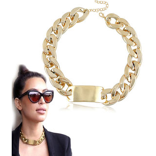 Shining Diva Non Plated Gold Necklace Set For Women-CFJ6014np