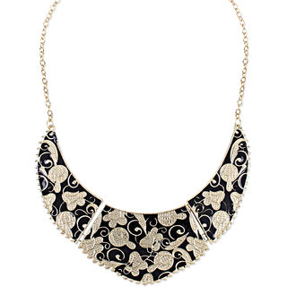 Shining Diva Non Plated Black Necklace Set For Women-CFJ6067np