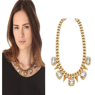 Shining Diva Non Plated Gold Necklace Set For Women-CFJ6055np