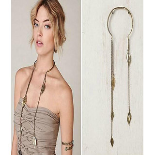 Shining Diva Non Plated Gold Necklace Set For Women-CFJ6110np