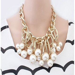 Shining Diva Non Plated White Necklace Set For Women-CFJ6111np