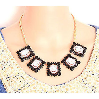 Shining Diva Non Plated Black Necklace Set For Women-CFJ6119np