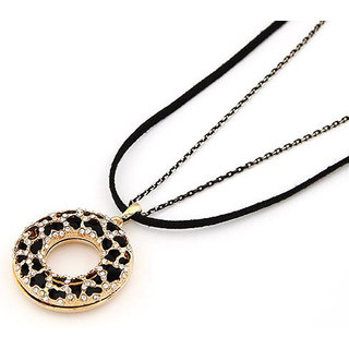 Shining Diva Non Plated Black Necklace Set For Women-CFJ6935np