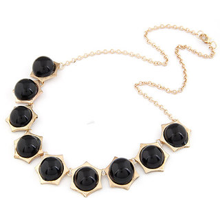 Shining Diva Non Plated Black Necklace Set For Women-CFJ7062np