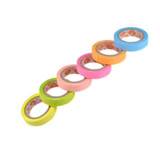 Saamarth Impex Set Of 6 Clear Colourful Sticky paper Adhesive Tape Crafts SI-720
