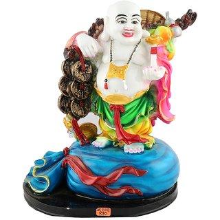 Aica feng shui laughing buddha happy man vastu showpeace-12