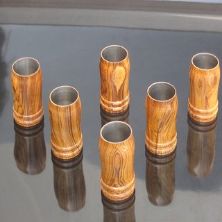 wooden drinking glass