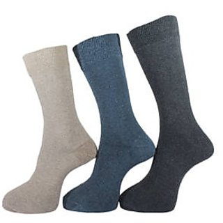 3 pair men long socks Assorted