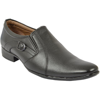 Oora MenS Black Faux Leather Derby Shoes - 9 Uk