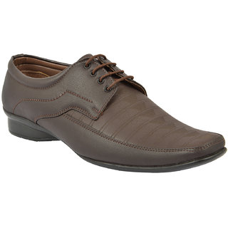 Oora MenS Brown Faux Leather Derby Shoes - 9 Uk