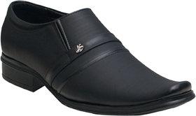 Oora Men's Black Formal Slip On Shoes