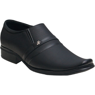 Oora Men's Black Formal Slip On Shoes